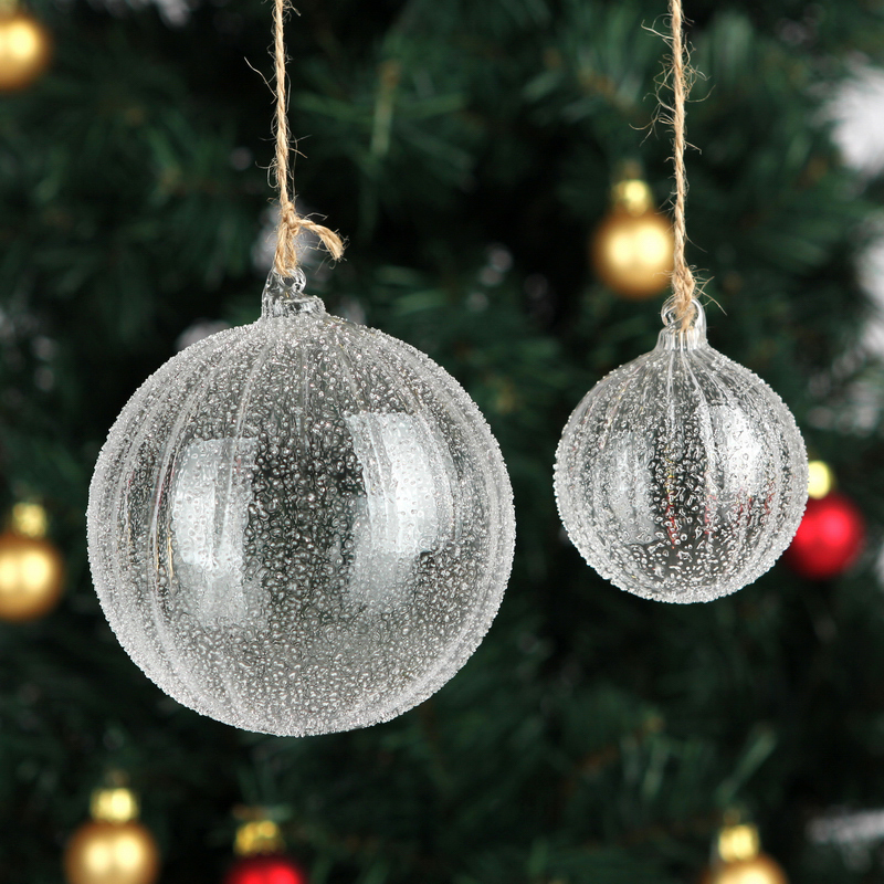 Free shipping handmade christmas tree glass ball pendant