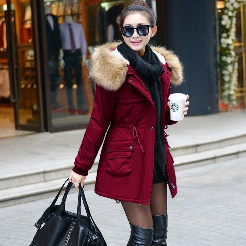 Jvzkass 2019 quente plus size parka casaco de inverno jaqueta feminina algodão acolchoado feminino longa seção cashmere casaco inverno jaquetas z16
