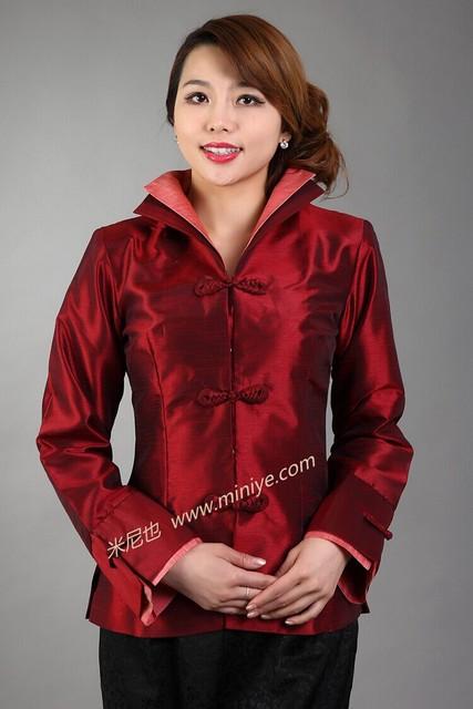 Outono nova cor sólida jaqueta feminina chinês tradicional mulheres gola mandarim casaco Tang terno Tops tamanho sml XL XXL XXXL M-53