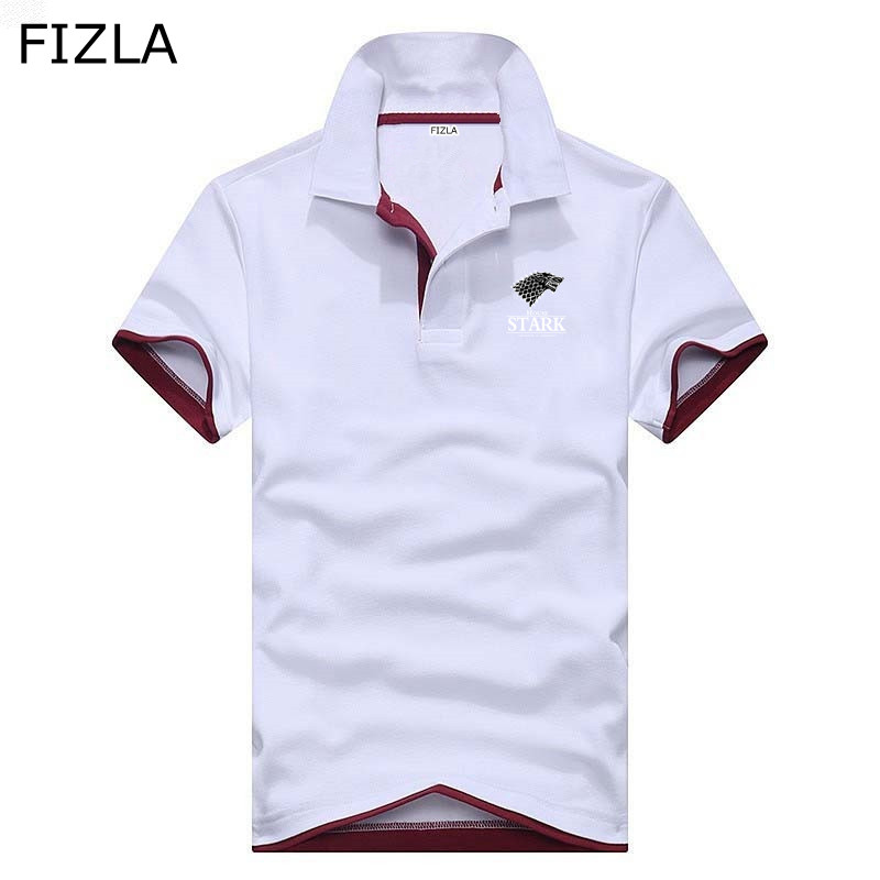New   polo   shirt men fashion Stark Game of Thrones Men Business Casual   polo   homme Brands jerseys Summer mens clothing   polo   Shirts
