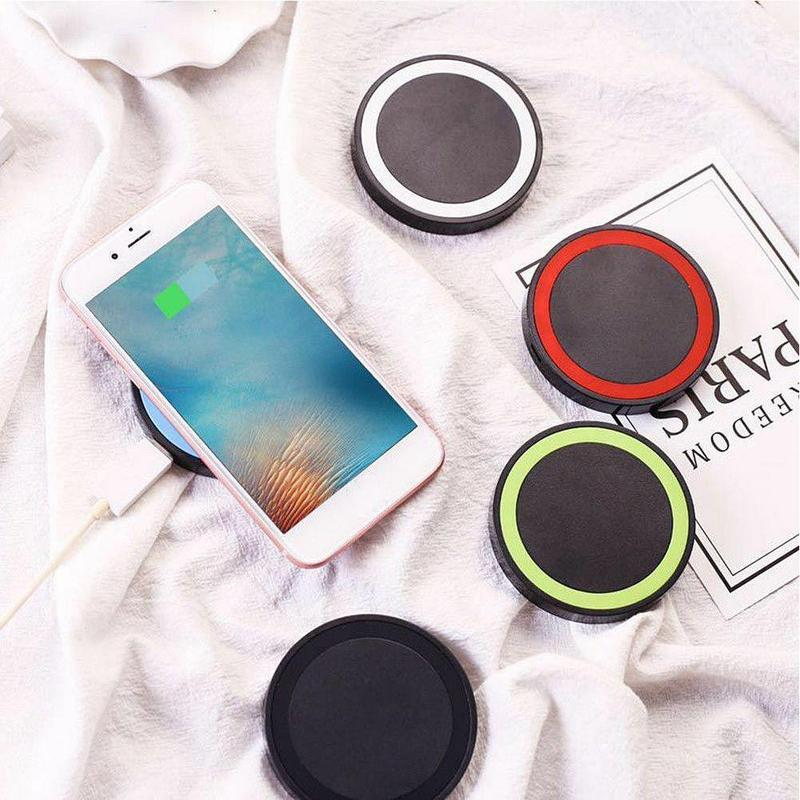 Mini Desktop Qi Wireless Charger Pad With Fast Wireless Charging Receiver Kit For iPhone 7/6/6S/5/5S/5C LG Nexus 4 5 6 D1