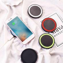 Mini Desktop Qi Wireless Charger Pad With Fast Wire