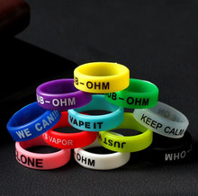E XY 5pcs silicone rubber vape band ring decorative protection band for mechanical mods 22mm mod