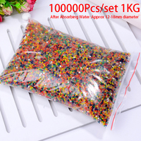 100000 Pcs/set Crystal Mud Hydrogel Orbeez Crystal Soil Outdoor Water Beads Vase Soil Grow Magic Balls Kid's Toy Home Decorati