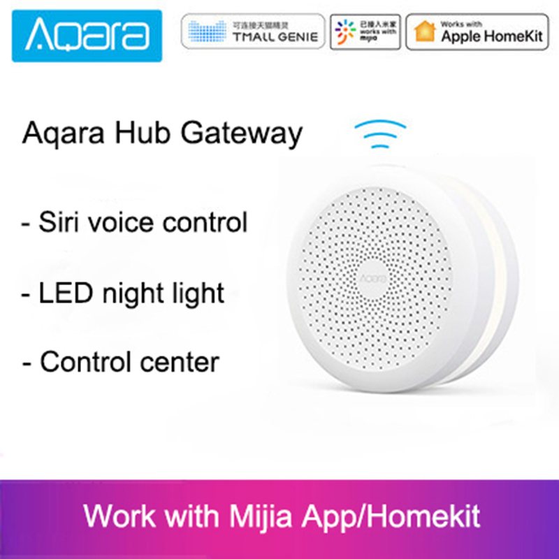 Original Xiaomi Mijia Aqara Hub Gateway with Led night light Smart work with For Apple Homekit International Edition GatewayOriginal Xiaomi Mijia Aqara Hub Gateway with Led night light Smart work with For Apple Homekit International Edition Gateway