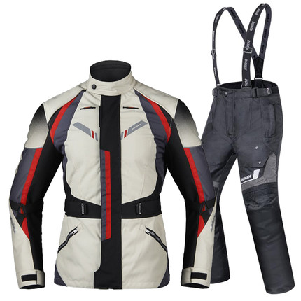 Motorcycle riding suit man winter cold warm anti motorcycle clothing protective clothing four seasons waterproof