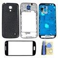 Чехол Для Samsung Galaxy S4 Mini i9195 I9190 i9192 Корпуса Полный передняя Рамка + Ближний Рамка + Задняя Обложка + Кнопки + Внешнее стекло +