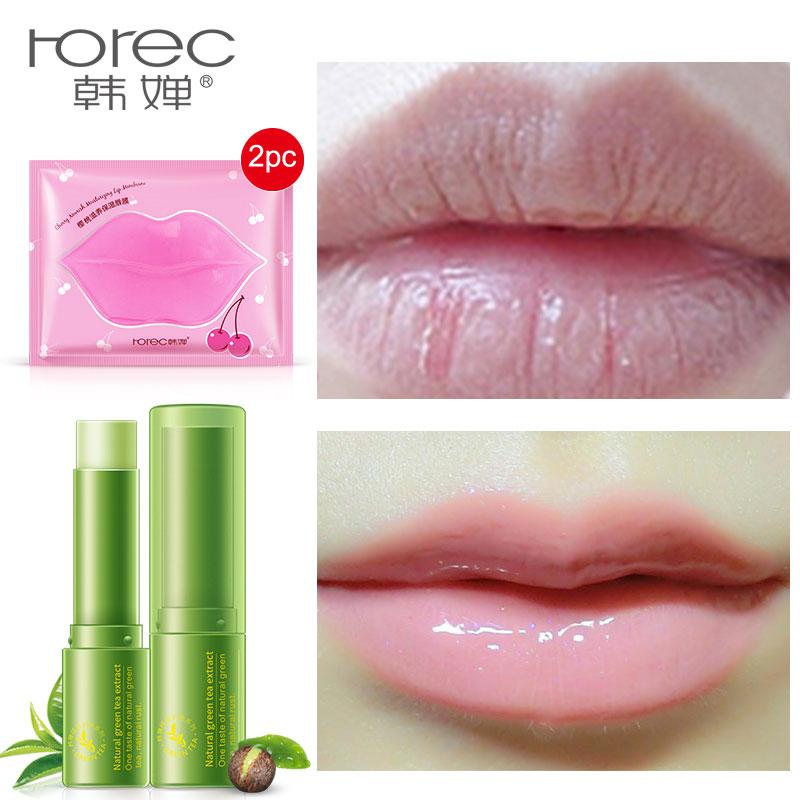 HOREC 3PCS Collagen Crystal Collagen Lip Film Moisturizing Exfoliating & Lips Balm Beauty Essentials Lip Care