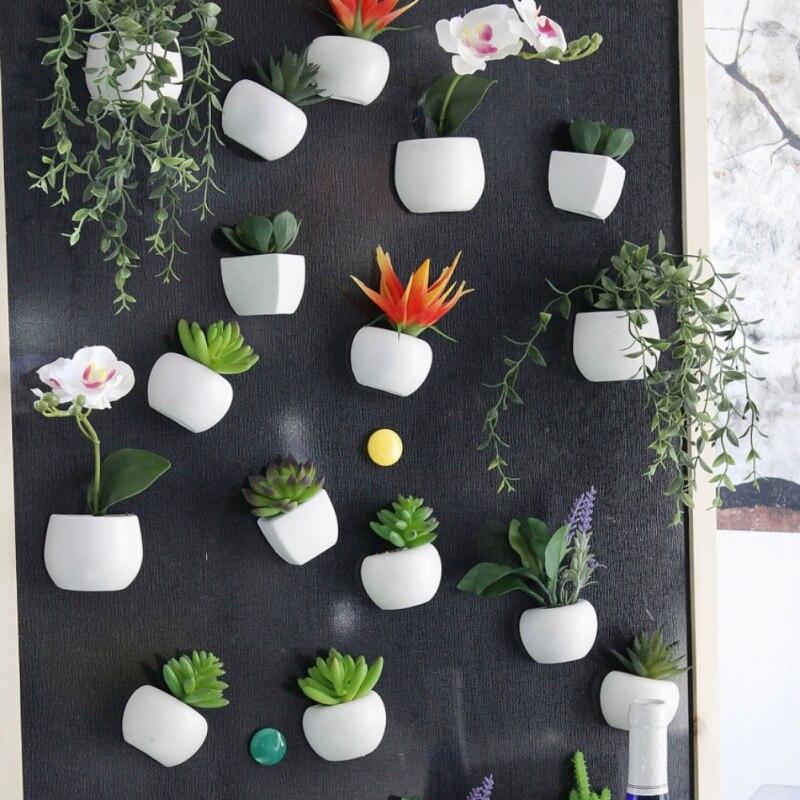 1 unids plantas suculentas bonsai diy silicona imán etiqueta de la pared para ho