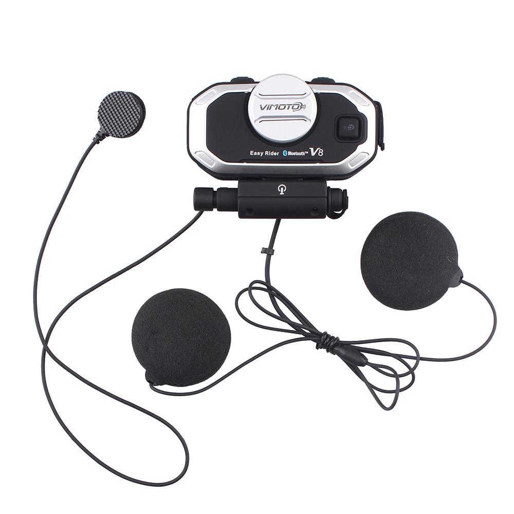 2 հատ Vimoto V8 Motorcycle Bluetooth ստերեոֆիկ - Պարագաներ եւ պահեստամասերի համար մոտոցիկլետների - Լուսանկար 3