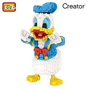 Image 2 - لوز كتل صغيرة أشكال كرتونية لطيفة على شكل حيوانات كرتونية لبنات البناء الماسية ألعاب تجميع بلاستيكية ألعاب تعليمية للأطفال 9038