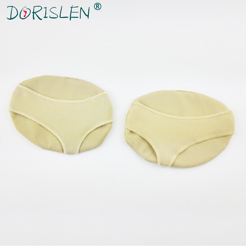 DORISLEN Fabric Gel Forefoot Pads Metatarsal Ball Cushions Pain Relief 50pairs soft laser healthy natural product pain relief system home lasers