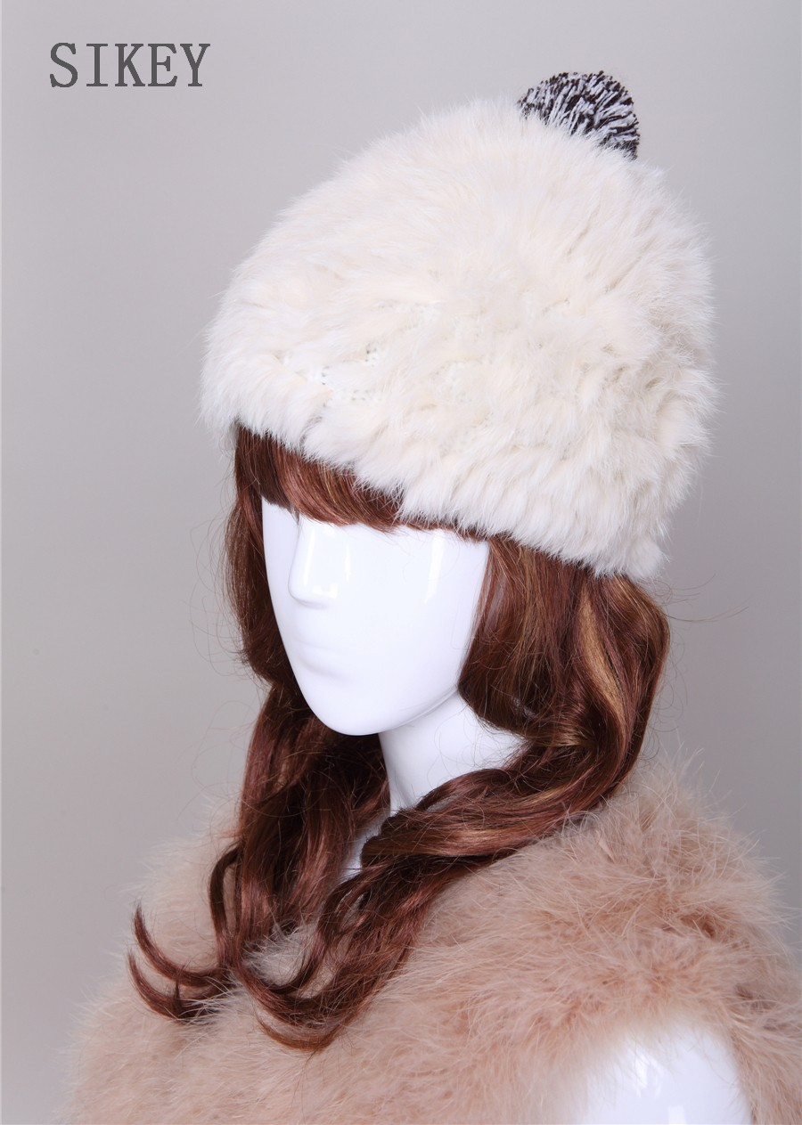 35e7b057fad free shipping fashion winter hat knitted real rabbit fur cap 4 ...