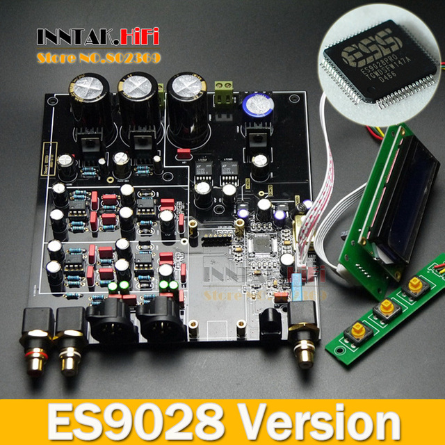 US $141 54 5% OFF Assembled HiFi ES9028PRO +TCXO 0 1PPM 4 Layer DAC decoder  board, support Amanero iis / XMOS USB Card-in Amplifier from Consumer