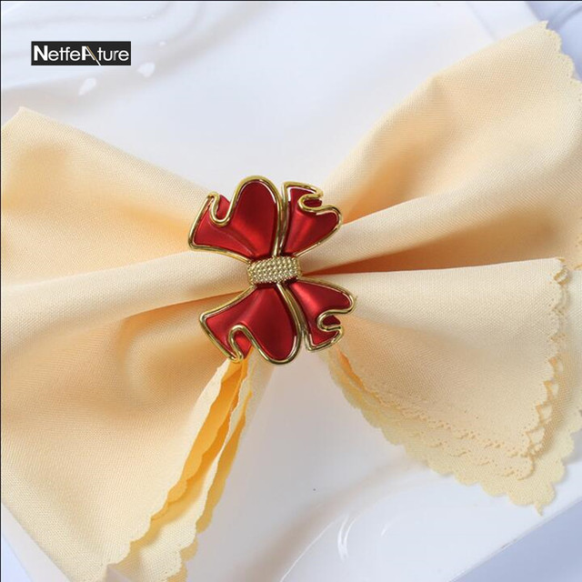 2pcs Lot Wedding Hotel Banquet Napkin Buckle Sample Room Table Decoration Rings Serviette Holder