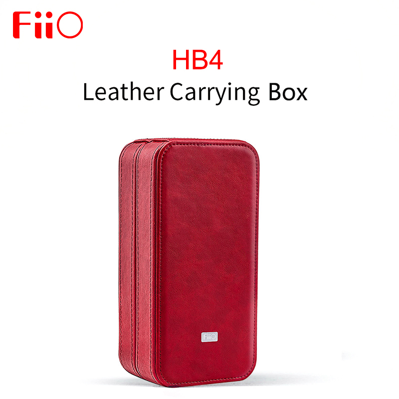 FiiO HB4 Custom Leather Storage Box Leather carrying case Portable Pressure Boxs for Earphone for FH7