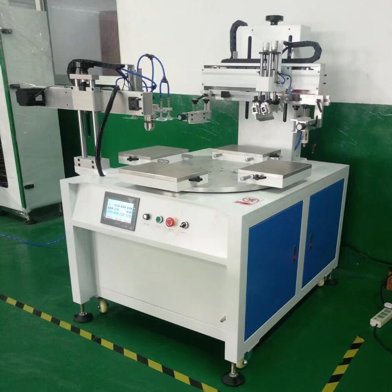 Precision 4 Stations Conveyor Membrane Automatic Switch Screen Printing Machine