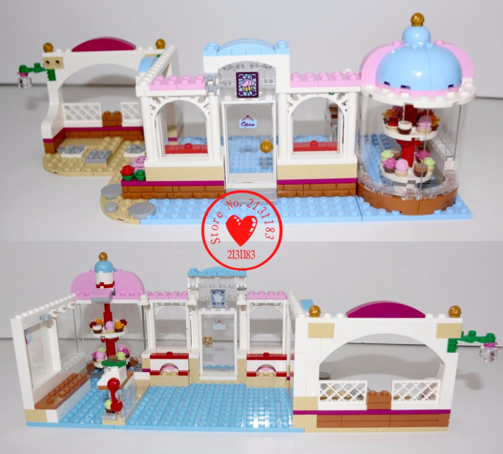 Girls Friends Heartlake Cupcake Cafe Building Blocks Set Model Brick Girl Toy compatiable with lego kid friends gift set antimicrobial environmental wood pull handle pa 710 entrance door handles for entry glass shop store doors