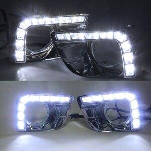 Image 5 - Driving Lights For Toyotas Prado 150 Fj150 Lc150 2010 2013 Land Cruiser Led Daytime Running Lights Drl Fog Lamp Cover