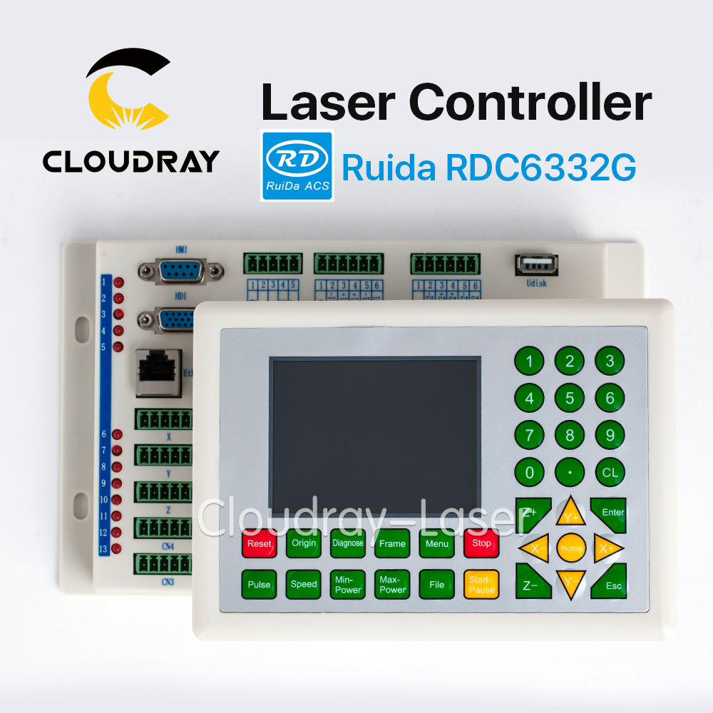 Cloudray Ruida RD RDC6332G Co2 Laser DSP Controller for Laser Engraving and Cutting Machine RDC DSP 6332G 6332M cloudray leetro operation panel pad04 e co2 laser controller system for laser engraving and cutting machine
