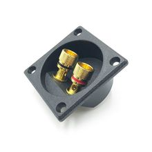 2 Way Speaker Box Terminal Binding Post Cup DIY Home Car Stereo Screw Cup Connectors Subwoofer Plugs