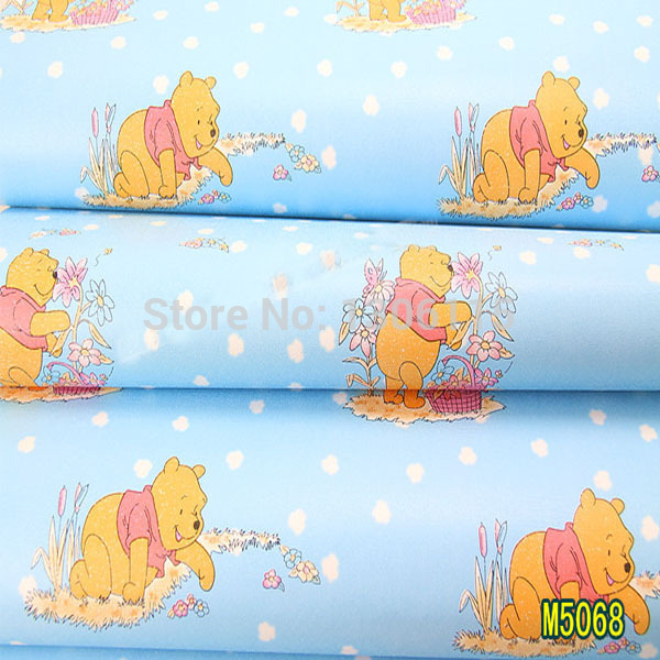Thickening Winnie Pooh Wallpapers For Room Walls Decor Paper