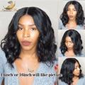 Peluca llena del cordón/frente del cordón pelucas 130% densidad de la onda de agua virginal brasileño pelo peluca de las mujeres negras del pelo del bebé