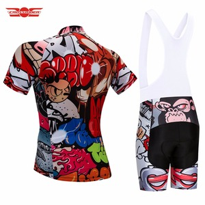 Image 5 - Crossrider 2020 Funny Cycling Short Jersey 9D bib Set MTB Bike Clothing Breathable Bicycle wear Mens Maillot Culotte
