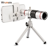 wrumava Universal Clip 18X Zoom Mobile Phone Lens Telescope Telephoto For iPhone 6 6S 7 Plus Samsung Galaxy S7 zoom Phone Lens