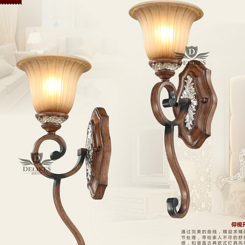 2PCS European style wall lamp mirror wall lights bedside lamp lighting lamp room of American pastoral village