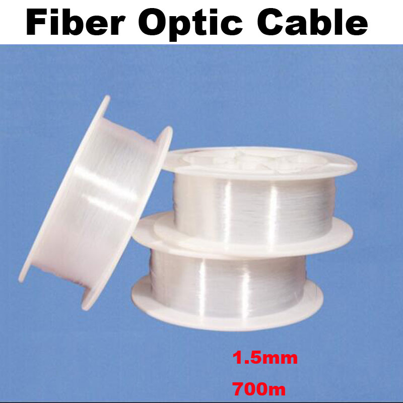 1.5mm diameter 700m/roll PMMA fiber optic cable end glow Optic Fiber Lights for decorati ...