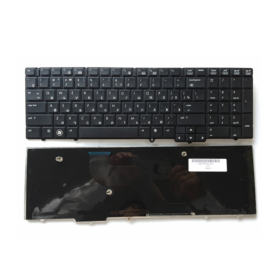 RU New FOR <font><b>HP</b></font> EliteBook 8540 <font><b>8540P</b></font> 8540W Replace laptop <font><b>keyboard</b></font> Russian Black without pointing sticks image