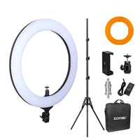 Zomei 18 LED Photography Ring Light Lighting Kit with Light Stand for Phone Camera Makeup Youtube Self Portrait Video Shooting