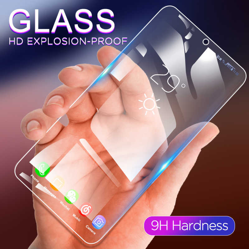 Full Tempered Glass Film For Xiaomi Mi 9 8 Max 3 Mi A2 Lite For Redmi Pro Note 7 6 6A Mi9SE Lite With White Edge Revising Liquid