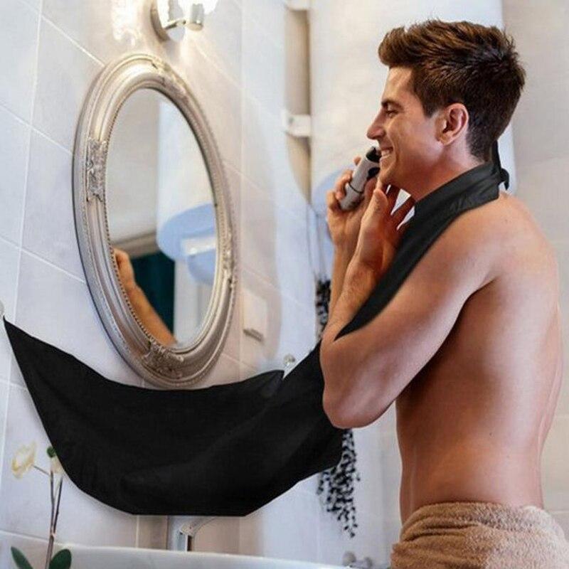 Bathroom Apron Beard Apron Trimmer Shave For Men Waterproof Bathroom Clothes Facial Beard Shaving The Barber Scarf Bib Apron