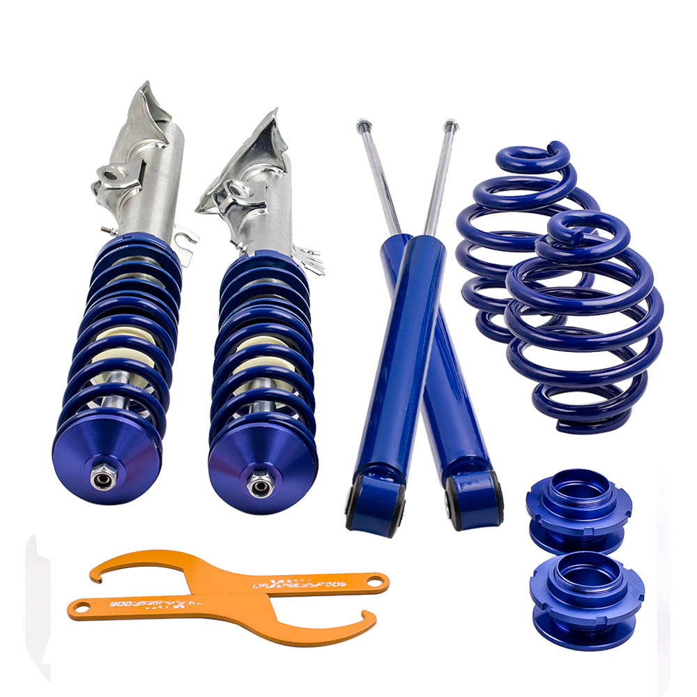 Adjustable Suspension Coilover Kit for BMW E36 Cabrio Coupe Coilovers Shock Blue