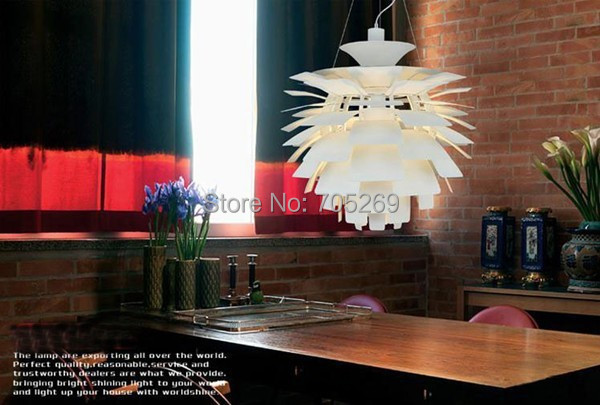 Free Shipping 2014 new year pendant lamps Wholesale Louis Poulsen PH Artichoke Lamp Denmark Modern Suspension Pendant Light L49 denmark classic design lamp louis poulsen artichoke pendant light aerospace aluminum 38cm 48cm pine cones echinacea light