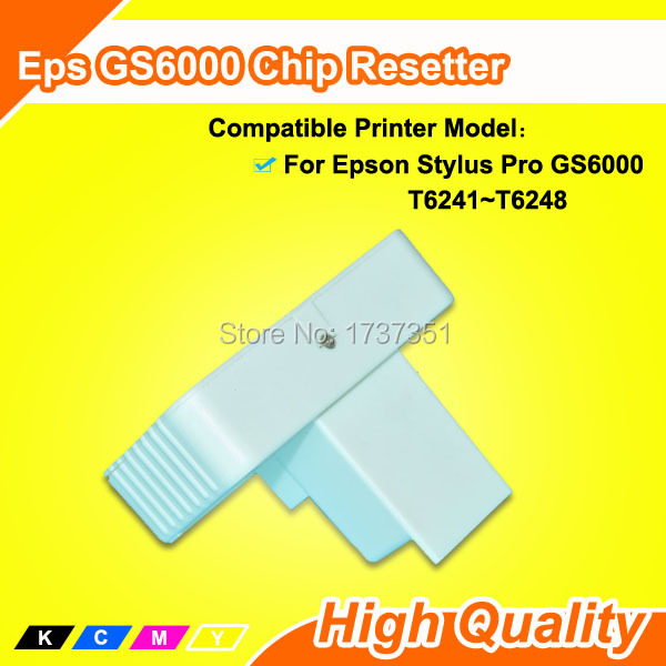 Chip Reset For Epson gs 6000 ink Resetter With pro gs6000 Chip Resetter t5971 700ml refill ink cartridge with chip resetter for epson stylus pro 7700 9700 7710 printer for epson t5971 t5974 t5978