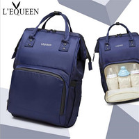 LEQUEEN Diaper Baby Organizer Bag Mom Maternity Stroller Bag Nappy Wet Bag Large Capacity Waterproof Travel Changing Backpack