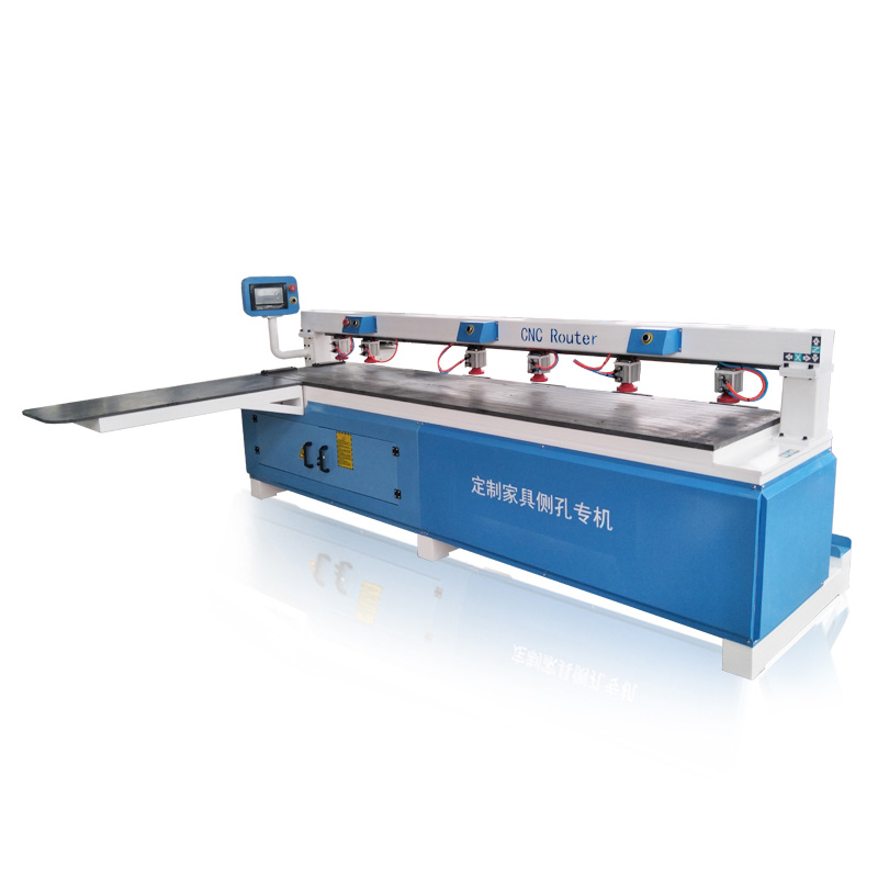 High Precision CNC Wood Side Holes Drilling Machine Horizontal Drilling Machinery For Wooden Furniture