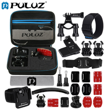 PULUZ Accessories Set For GoPro Hero6 24 in 1 Bike Mount Combo Kits+EVA Case Kits Go Pro Hero 5 Cameras