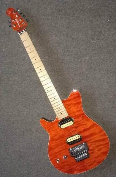 En gros Nouvelle Arrivée Gaucher Musicman Guitare Électrique En Orange Burst 160505