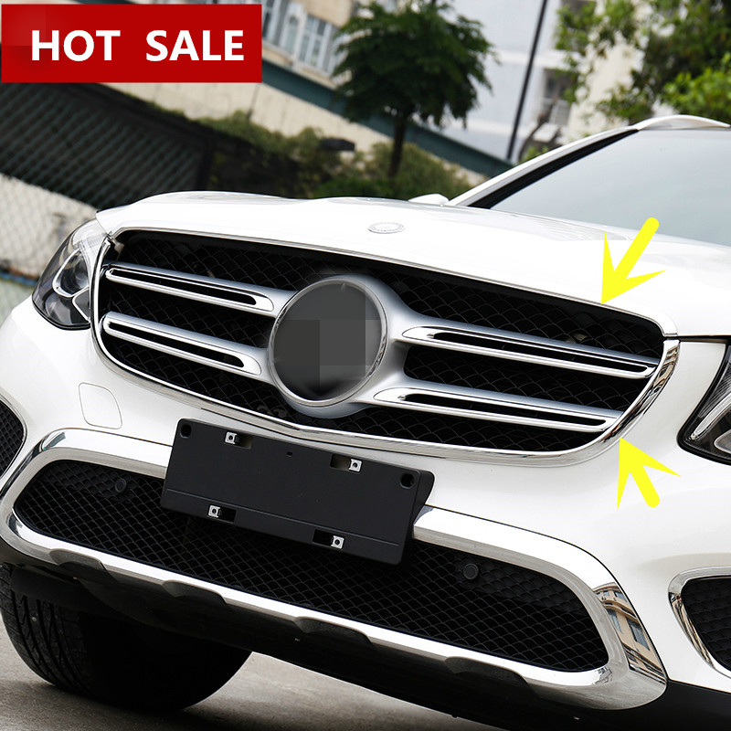 For Benz GLC X205 253 Exterior Front Center Grille Grill Cover Trim 2015-2016 2pcs srjtek 7 for lenovo tab3 3 7 730 tb3 730 tb3 730x tb3 730f tb3 730m touch screen digitizer sensor lcd screen display assembly