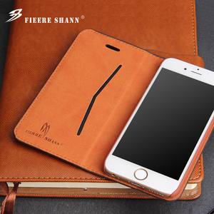 Image 3 - Fierre Shann Samsung Galaxy S8 artı S8 inek derisi Flip Case hakiki deri iPhone Xs için X 8 artı 6s 6 7 artı kickstand kapak