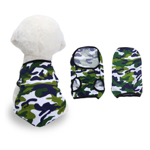 Summer Pet Vests for  Dogs Camouflage Breathable Dog Clothes Paddy Cotton T-shirts Small/Medium/Large XS-XXL