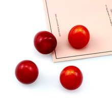 цена на 10Pcs Japanese Fashion resin Red Cherry Fruit simple perforated beads Earrings For Women Sweet Pendant DIY jewelry accessories