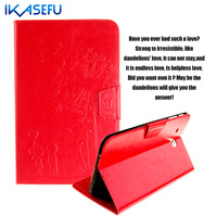 IKASEFU Soft TPU Back Case PU Leather for Samsung Galaxy Tab E 9.6 inch Coque Fundas Cover For Samsung Tab E 9.6 T560 Filp Stand