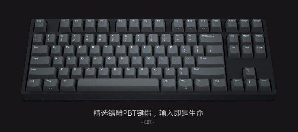 IKBC C87 TKL mécanique clavier tenkeyless C87 PBT keycap cerise mx interrupteur d'argent brun vitesse non-rétro-éclairé clavier de jeu