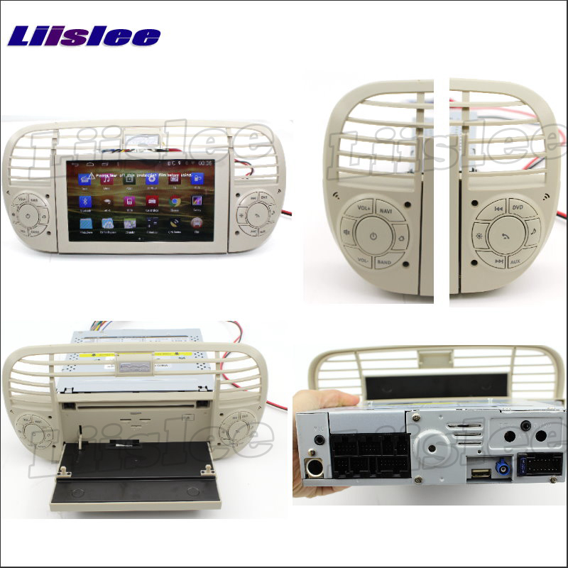liislee car radio for fiat 500 2007 2013 gps nav. Black Bedroom Furniture Sets. Home Design Ideas