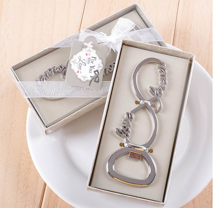150pcs lover forever love chrome beer bottle opener for wedding party guests favors gift-in Openers from Home & Garden    1
